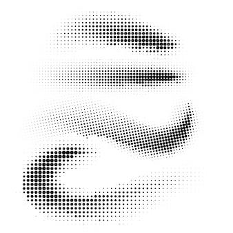 Demi-teinte cercles demi-teinte point de texture sur fond blanc