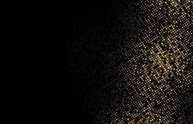 Demi-teinte de paillettes d'or fond pointillé