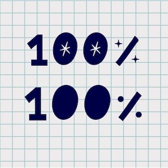 Demi-teinte ronde spot 100 polices main dessiner icône de texte.