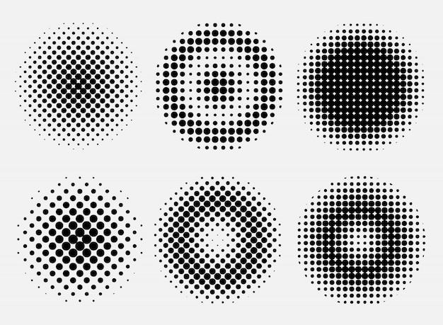 Demi-teintes points cercles
