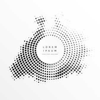Demi-ton abstrait circulaire