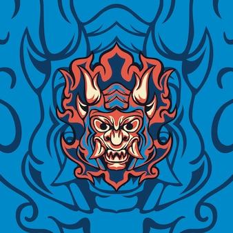Démon blue fire pour mascotte de jeu