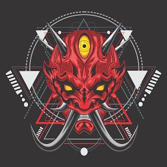Démon japonais rouge