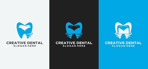 Dental logo design implant dentaire logo dental clinicabstract dentiste dentaire avec design de luxe