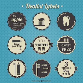 Dentiste badges rétro