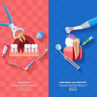Dentiste bannière verticale