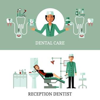 Dentiste bureau bannières
