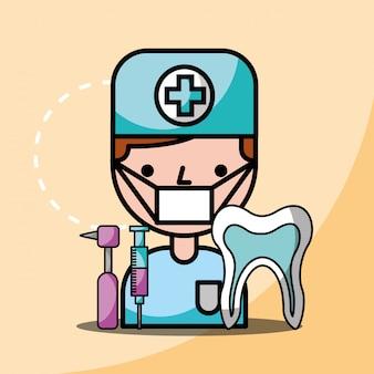 Dentiste foret dentaire dent et garçon