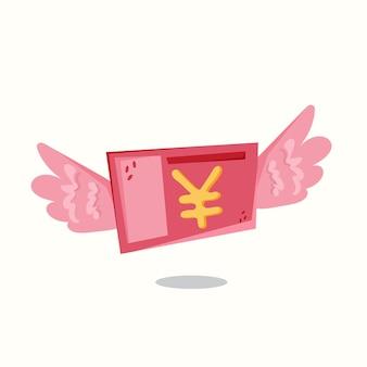 Dépensez de l'argent en yuan. illustration vectorielle dans un style plat