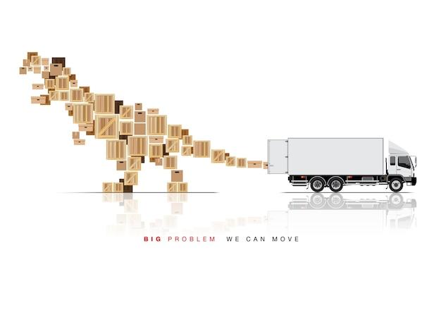 Déplacer la boîte par camion camion