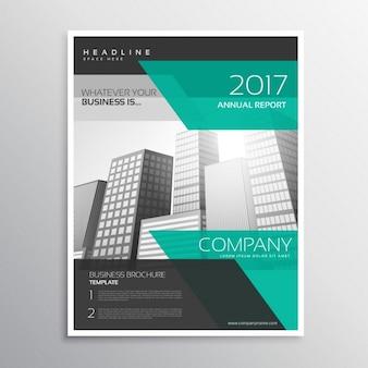 Dépliant d'affaires élégant ou conception de la brochure avec des formes abstraites