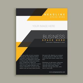 Dépliant d'affaires élégant conception de la brochure
