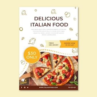 Dépliant alimentaire italien vertical