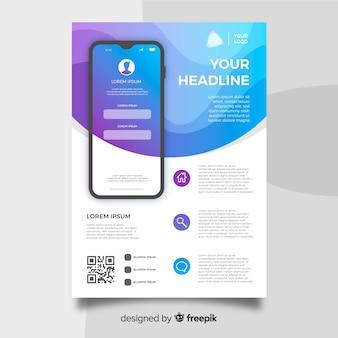 Dépliant d'application mobile
