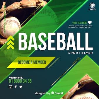 Dépliant de baseball