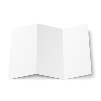 Dépliant blanc à trois volets ouvert