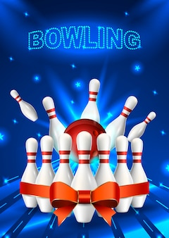 Dépliant bowling