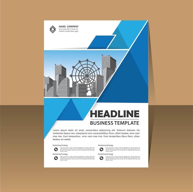 Dépliant brochure modèle mise en page couverture design rapport annuel