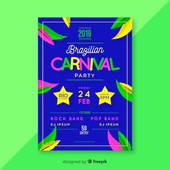 Dépliant de carnaval brésilien