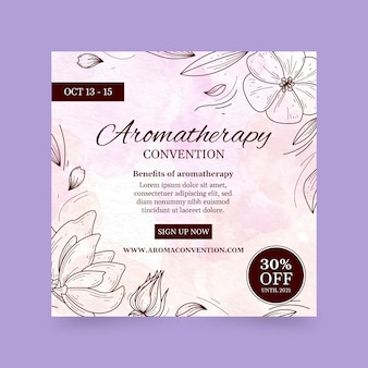 Dépliant carré de la convention d'aromathérapie