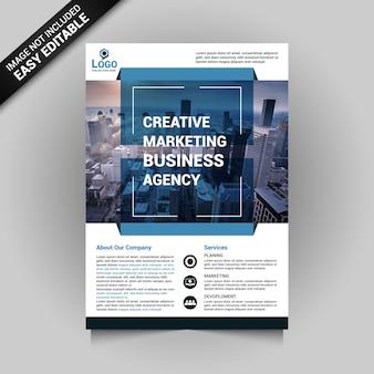 Dépliant commercial marketing créatif