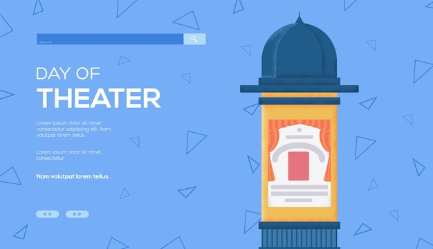 Dépliant de concept d'affiche, bannière web, en-tête d'interface utilisateur, entrez dans le site