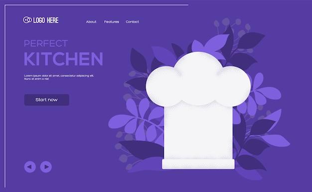 Dépliant de concept de casquette, bannière web, en-tête d'interface utilisateur, entrez dans le site.