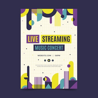 Dépliant de concert de musique en streaming en direct