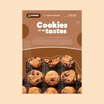Dépliant de cookies au chocolat vertical