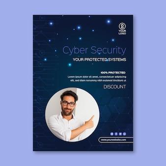 Dépliant de cybersécurité vertical