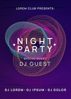 Dépliant du club néon. musique de danse électro. soirée trance dj. fête du son électronique. affiche de l'événement techno.