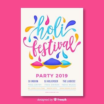 Dépliant du festival de holi