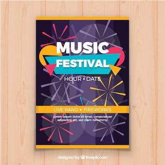 Dépliant du festival de musique funky