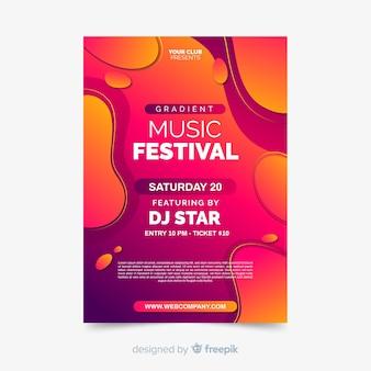 Dépliant du festival de musique