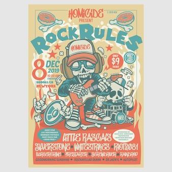Dépliant du festival des règles du rock