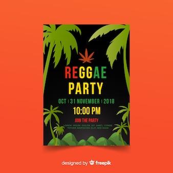 Dépliant du parti reggae