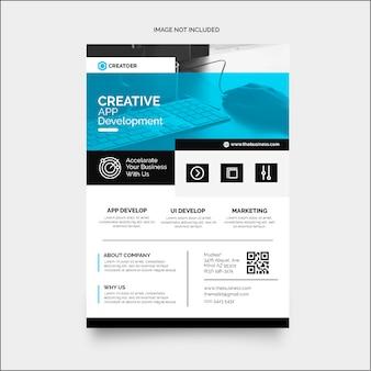 Dépliant d'entreprise coloré créatif