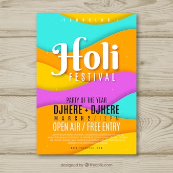 Dépliant fête du festival holi
