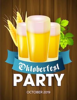 Dépliant de la fête de la fête de la bière