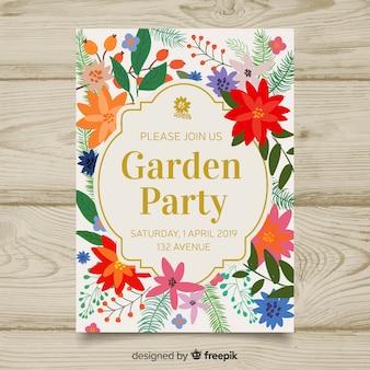 Dépliant de fête de jardin