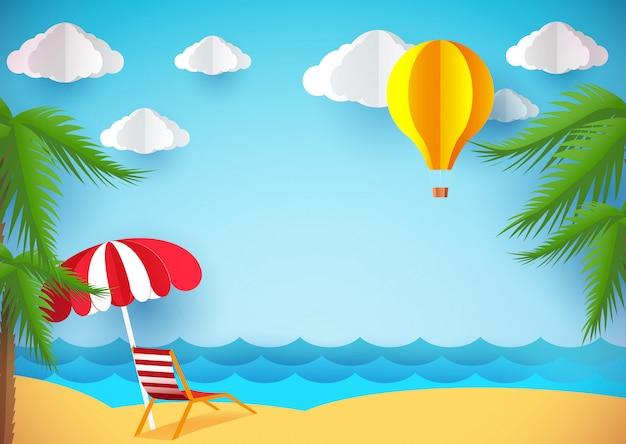 Dépliant ou fond d'été