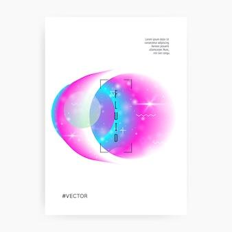 Dépliant galaxie. néon, modèle scientifique cosmos avec planète, soleil, lumière fluide profonde. la licorne de rêveur magique 3d scintille. gradients holographiques. flyer galaxy avec des formes d'univers et de la poussière d'étoile.