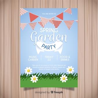 Dépliant de la garden-party de printemps