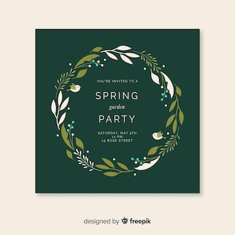 Dépliant de la garden-party de printemps