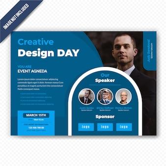 Dépliant horizontal de conférence design day