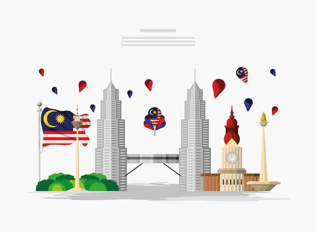 Dépliant de l'indépendance de la malaisie