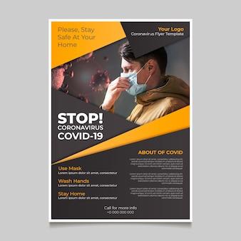 Dépliant informatif sur le coronavirus avec photo