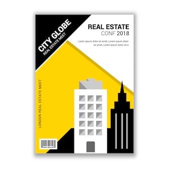 Dépliant sur invitation à une conférence sur l'immobilier