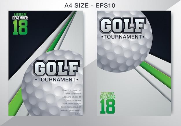 Dépliant modèle affiche de tournoi de golf