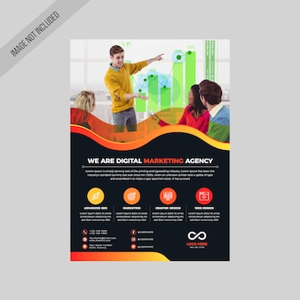Dépliant orange digital agency
